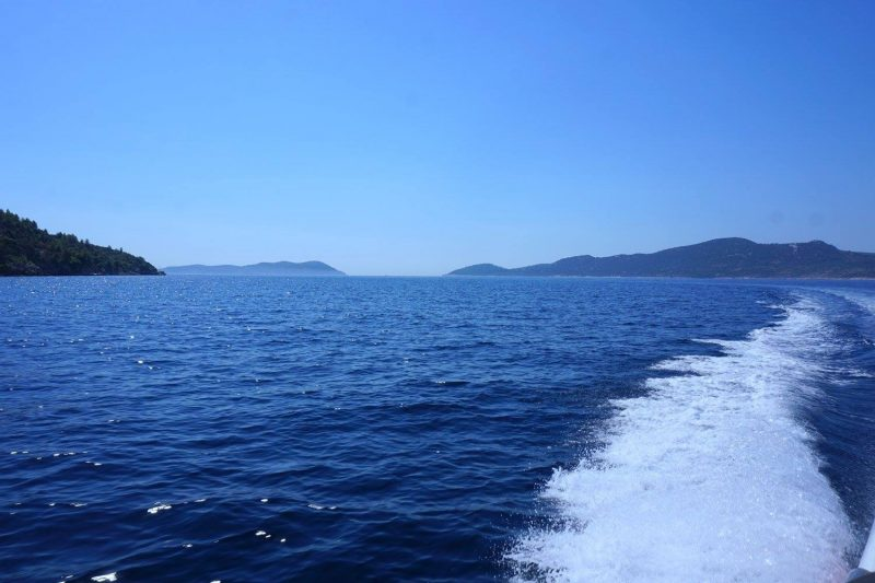 View from the back of our Dubrovnik boat rental