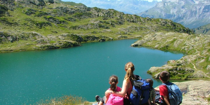 Walking to Lac du Brevent from Brevent Cable Car