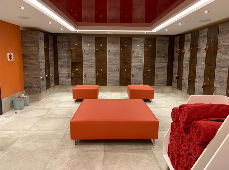 Spa changing facilities